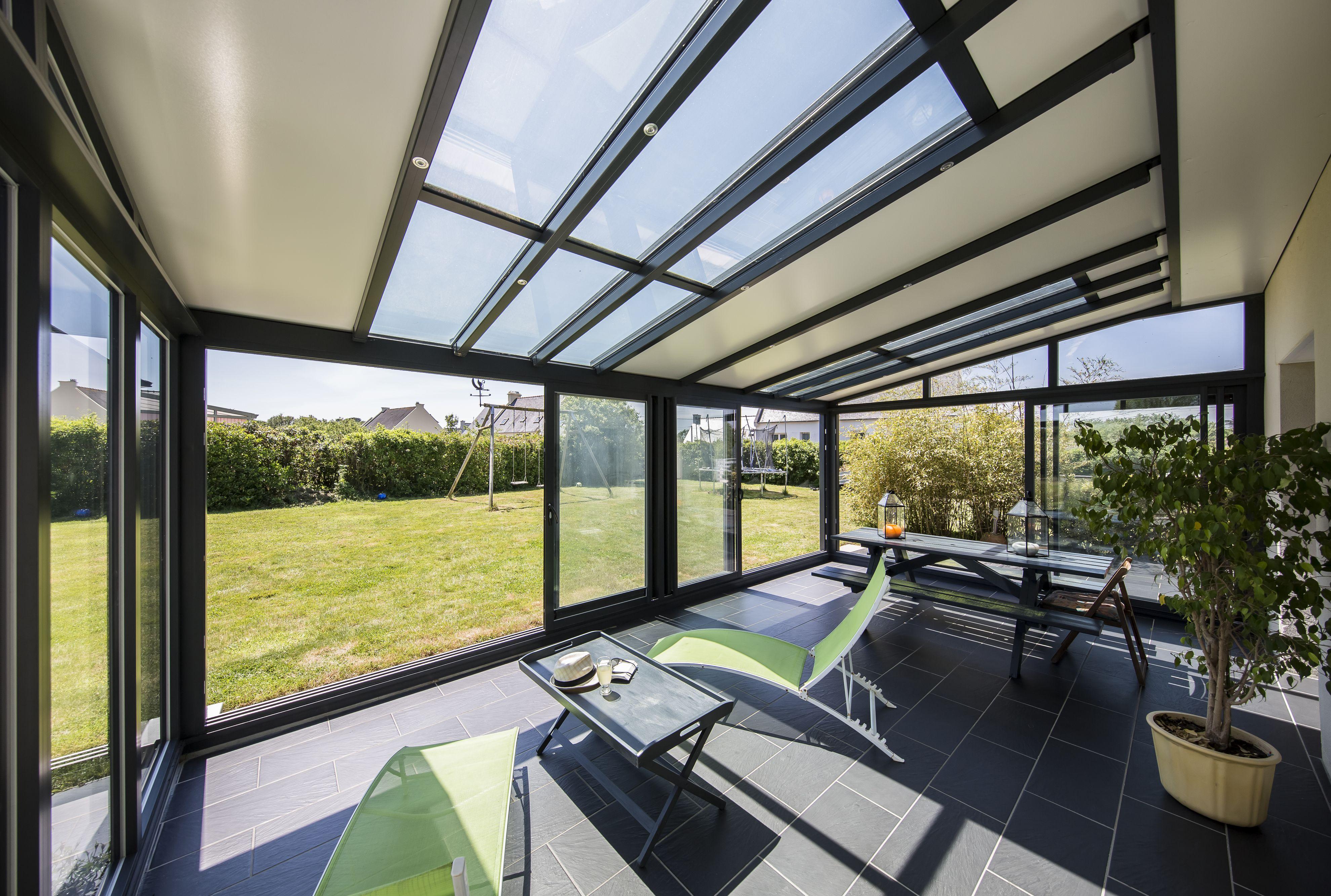 Toiture de véranda - Véranda à toit plat ou à toit en verre - Soko