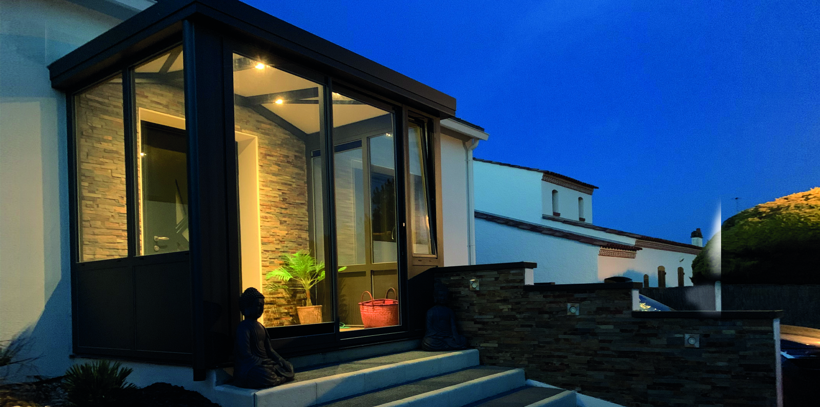 Porche D Entrée Maison Contemporaine véranda d'entrée - sas d'entrée pour maison - soko